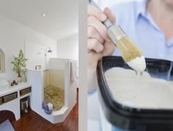 Peindre une salle de bain soi m me facilement d co cool - Peinture salle de bain etanche ...