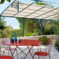 peinture fer exterieur pour salon de jardin, portail, structure en fer sur terrasse et tonnelle