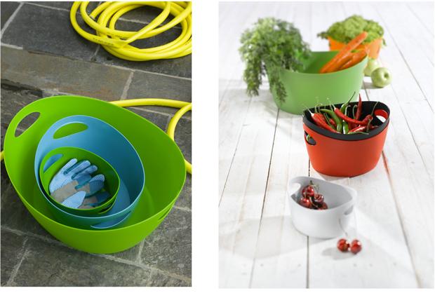 bassine design pour la salle de bain, cuisine ou jardin, en  plastique haut de gamme souple disponible en  6 couleurs tendance