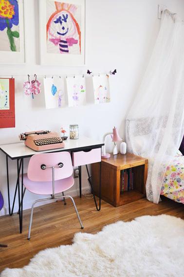 le bureau d 39 ecolier vintage les enfants adorent. Black Bedroom Furniture Sets. Home Design Ideas