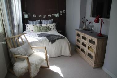 Chambre couleur gris chocolat et blanc - Chambre aubergine et gris ...
