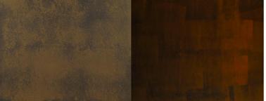 nuancier peinture meuble Fusion effet rouille de Maison déco. Finition possible selon le nombre de couches appliquées en finition