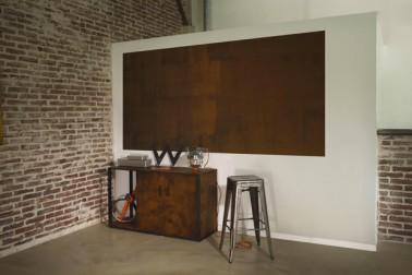 Peindre meuble salon peinture effet rouille maison d co - Peinture fer effet rouille ...