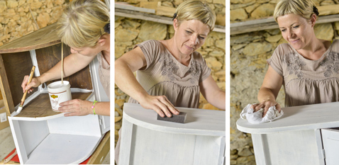 pour peindre un meuble en bois appliquer une sous-couche pour bois avant appliquer peinture bois effet cuir