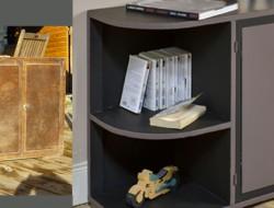 peindre un meuble avec une peinture effet cuir c est g nial. Black Bedroom Furniture Sets. Home Design Ideas