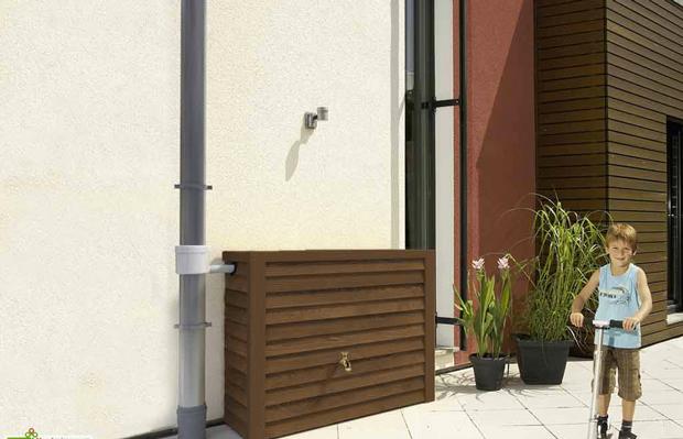 amazing recuperateur eau de pluie castorama 6 recuperateur eau de pluie en bois chene fonce. Black Bedroom Furniture Sets. Home Design Ideas