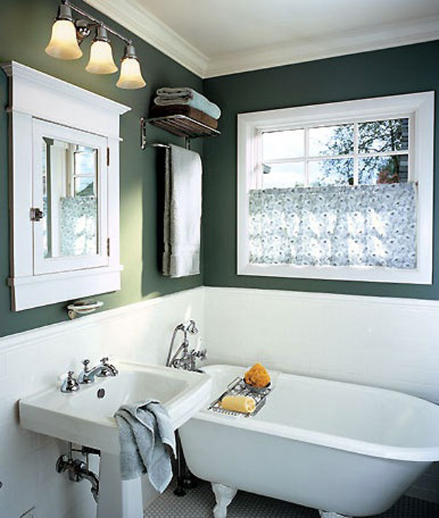Salle de bain couleur vert anglais style d co british for Salle de bain vert kaki