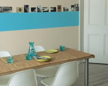 salon couleur lin et turquoise. Black Bedroom Furniture Sets. Home Design Ideas