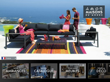 application-maison-du-monde-catalogue-sur-Ipad |