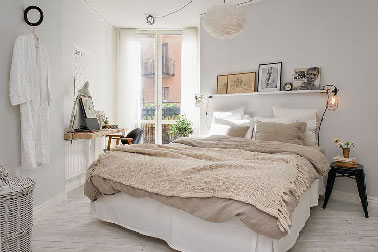 couleur chambre blanche et beige pour d co boh me chic. Black Bedroom Furniture Sets. Home Design Ideas