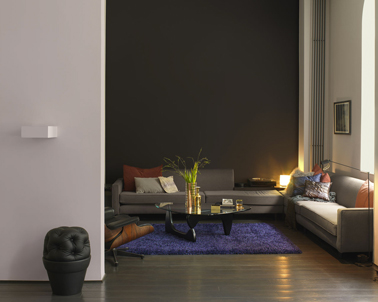 Quelle couleur pour un salon au top deco cool for Salon violet et gris