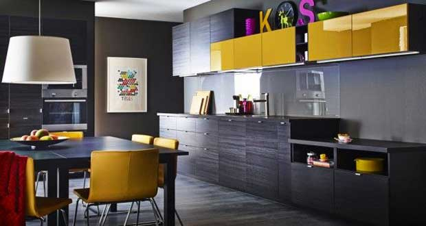 Cuisine noire les modeles top deco chic ikea deco cool for Kitchen colors with white cabinets with porte papiers femme