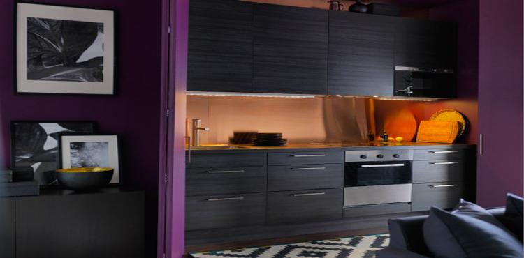 la cuisine ouverte inspire les collections ikea et castorama. Black Bedroom Furniture Sets. Home Design Ideas