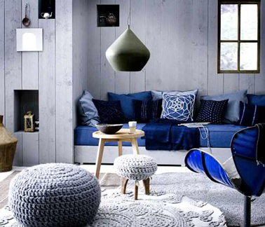 d co salon bleu et gris ambiance cosy. Black Bedroom Furniture Sets. Home Design Ideas
