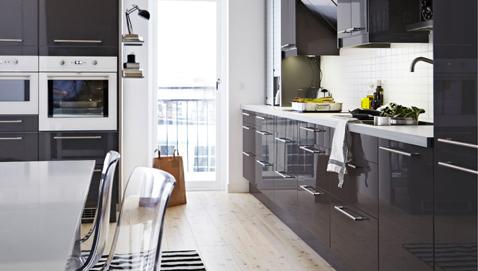 4 mod les de cuisine noire top chic d 39 ik a deco cool for Cuisine ikea abstrakt blanc laque