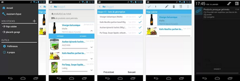 NoMaggot, application pour androïd qui gére les dates de péremption des aliments frais dans le frigo et l'épicerie du placards