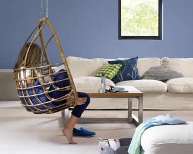 salon couleur bleu et beige un deco anti stress d coration maison et id es d co peinture par pi ce. Black Bedroom Furniture Sets. Home Design Ideas