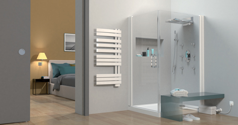 sanidouche flat de sfa pour installer une douche a cote de la chambre. Black Bedroom Furniture Sets. Home Design Ideas