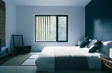 chambre couleur bleu pour d co zen. Black Bedroom Furniture Sets. Home Design Ideas