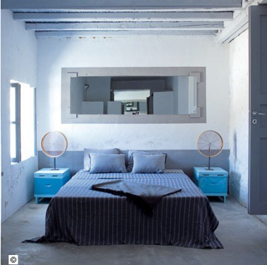 D coration chambre peinture couleur gris et bleu for Peinture grise pour chambre