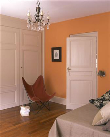 id e d co couleur chambre orange beige et rose. Black Bedroom Furniture Sets. Home Design Ideas