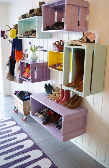 D co recup entree for Idee rangement chaussures entree