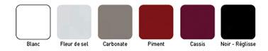 Nuancier peinture de la gamme Rénovation électroménagers de V33. 6 couleurs disponibles pour peindre frigo, cuisinière...