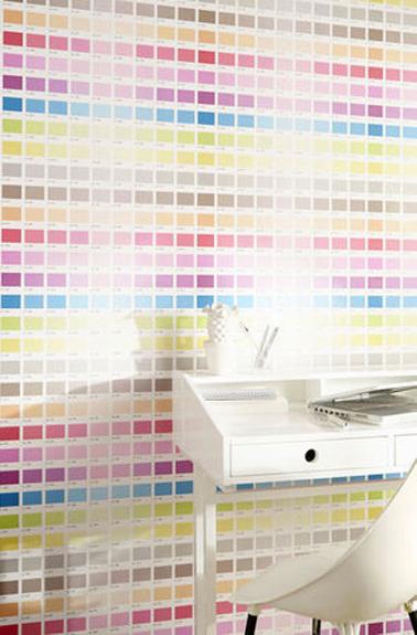 Papier peint chambre enfant gamme couleur castorama - Couleur papier peint chambre ...