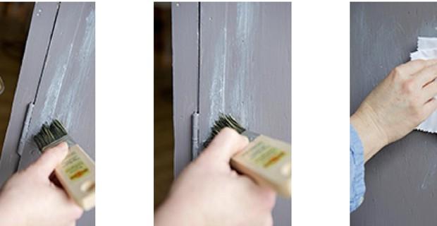 Lovely renover une vieille armoire 9 repeindre armoire en bois peinture eff - Peinture effet patine ...