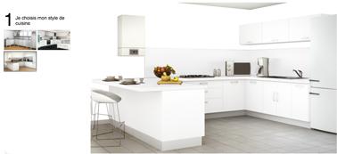 Simulateur peinture cuisine pour meubles et murs for Peinture plan de travail cuisine