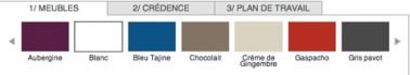 Simulateur peinture cuisine 12 couleurs pour meubles cr dence for Simulateur couleur cuisine gratuit