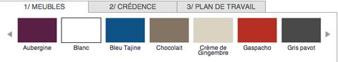 Simuler les couleurs de la cuisine avec le nuancier interactif couleur peinture peinture meubles de cuisine, crédence et plan de travail
