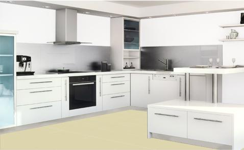 Simulateur peinture cuisine pour meubles et murs for Peinture pour carrelage de cuisine