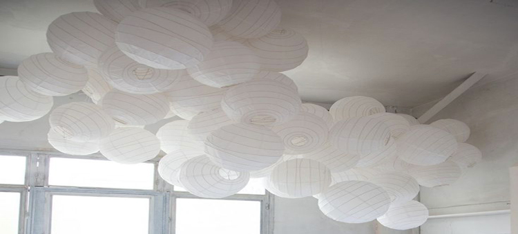 Suspension a faire soi meme avec boule japonaise blanche for Suspension luminaire papier