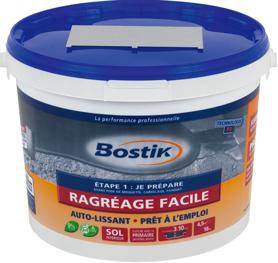 Pot ragréage facile auto-lissant et prêt à l'emploi de Bostick idéal pour petite surface
