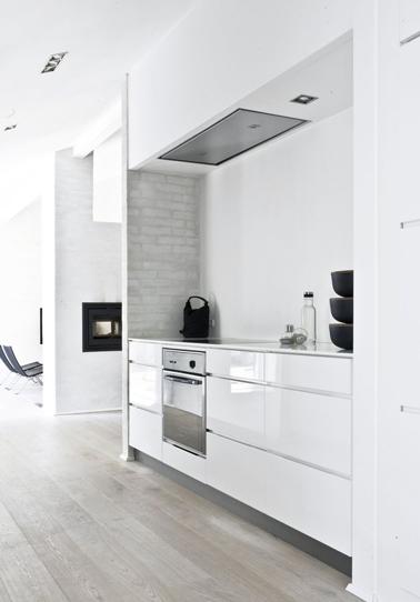 La cuisine adopte la couleur blanche d co cool - Cuisine petit espace design ...