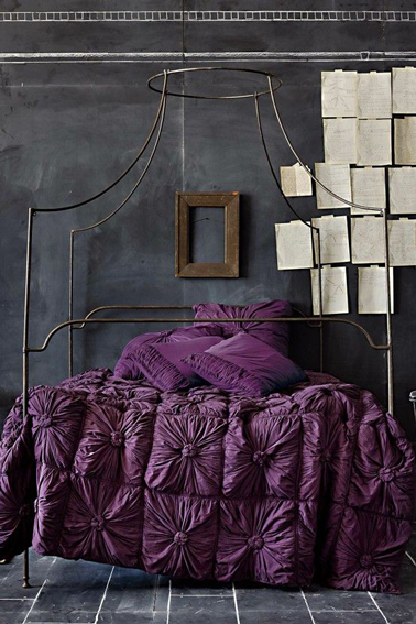 deco chambre violet et gris anthracite. Black Bedroom Furniture Sets. Home Design Ideas