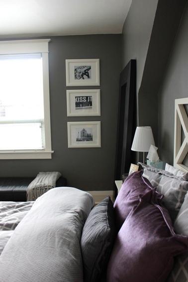 8 idées peinture pour une chambre d\'adulte avec du violet