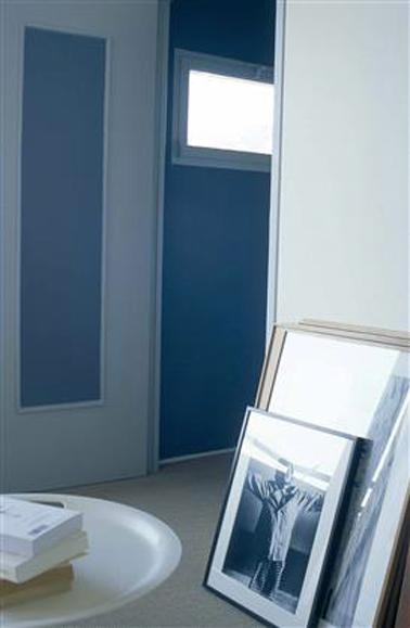 D co entr e couleur peinture d grade de bleu - Couleur peinture entree ...