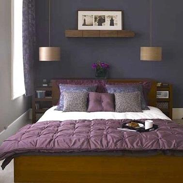 Deco violet pour chambre meuble chene fonce for Couleur violet pour chambre