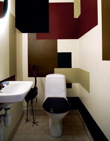 Peinture wc id es couleur pour des wc top d co - Couleur peinture wc ...