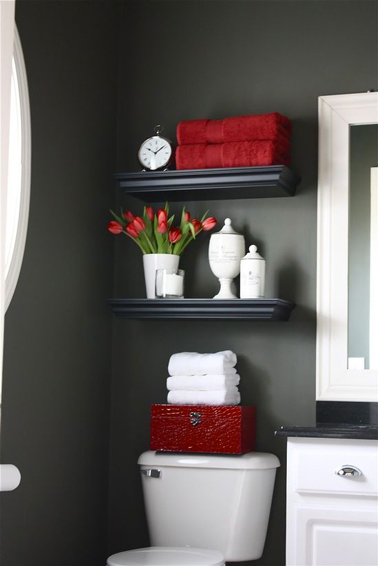 d co wc couleur peinture gris anthracite d co rouge. Black Bedroom Furniture Sets. Home Design Ideas