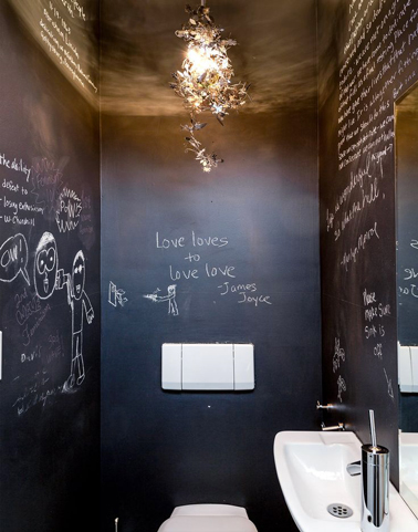 d co wc peinture tableau noir sur murs et plafond. Black Bedroom Furniture Sets. Home Design Ideas
