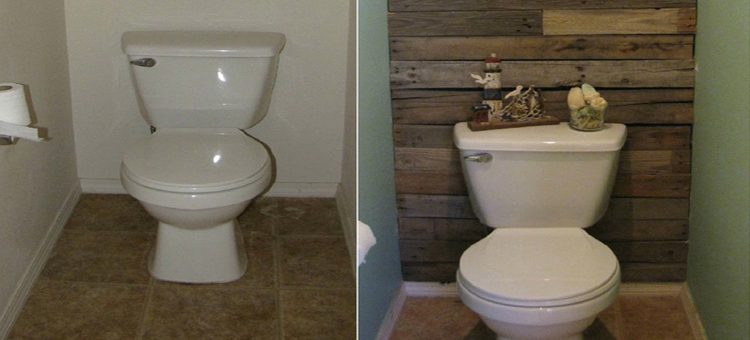 D co wc toilette id e couleur peinture for Peinture toilettes zen
