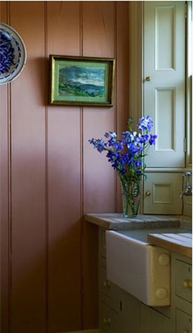 Entree maison campagne peinture couleur vieux rose et vert - Peinture vieux rose ...