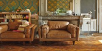 canape cuir esprit vintage et loft pour la deco du salon