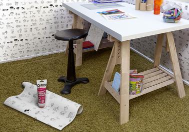 kit QUELYD iDraw, nouveau concept déco chambre enfant de frises illustrées à colorier