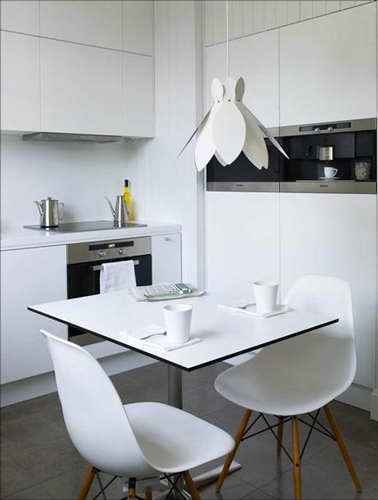 La cuisine adopte la couleur blanche d co cool - Petite cuisine blanche ...