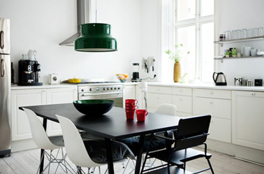 La cuisine adopte la couleur blanche d co cool for Table familiale
