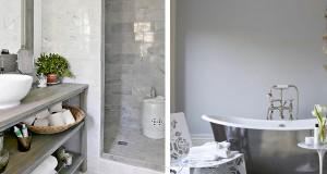 idee deco salle de bain grise et blanc